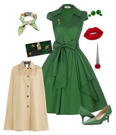 """""""50's vibes. Such a lady"""" by sharema-smith on Polyvore featuring Nine West, Gucci, Bling Jewelry, Dolce&Gabbana, Lime Crime, Christian Louboutin and Vanessa Seward"""