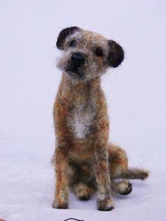 border terrier 019   Flickr - Photo Sharing! Felt Dogs, Felt Cat, Wool Felting, Needle Felting, Needle Felted Animals, Felt Animals, Irish Terrier, Felt Material, Border Terrier