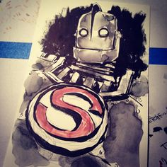 Iron Giant sketch. #irongiant #superman by Matthew Fletcher
