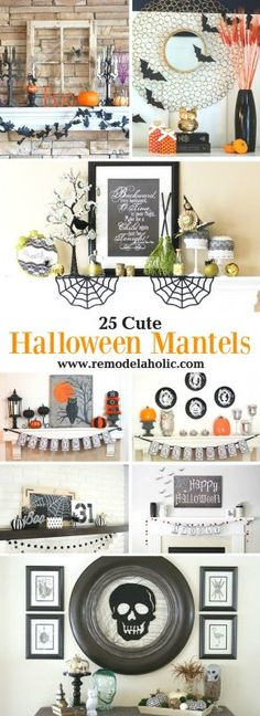 Decorate Your Home With These 25 Cute Halloween Mantels Featured On Remodelaholic.com