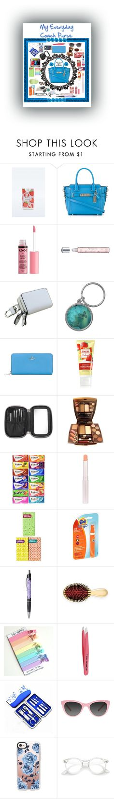 """""""I May Need a Bigger Purse"""" by snowflakeunique ❤ liked on Polyvore featuring beauty, MAD, Coach, Charlotte Russe, Morgan Lane, Eos, Illamasqua, Sunkissed, Kleenex and AERIN"""