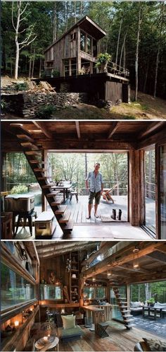 Amazing Cabin. Somebody took a lot of effort to make the most use of available light while planning this cabin.