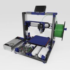 This is a Cartesian style printer based on the popular Open Source RepRap Prusa design by Josef Prusa. Further inspiration for the design came from the Folger. 3d Printing News, 3d Printing Business, 3d Printing Service, Arduino Laser, 3d Printing Machine, Diy Cnc Router, Websites Like Etsy, Prusa I3, 3d Printer Designs