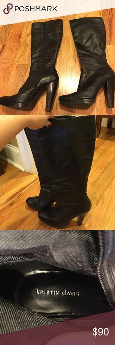 Great Black Leather Boots- Kristin Davis Kristin Davis! Great Black leather boots! kristin Davis Shoes Heeled Boots