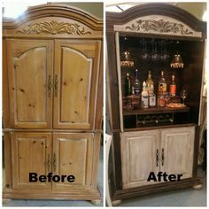 See how Amy took an old entertainment center and created a unique & useful cabinet: http://www.goodwillakron.org/archives/9034