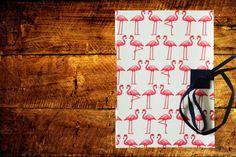 Caderno com Costura Longstitch e capa detecido em algodão. Uma capa divertida e alegre!