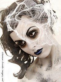 Pretty Zombie girl makeup.
