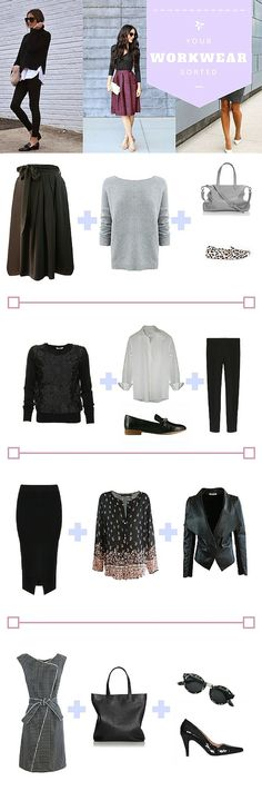 Here's how I put together my work outfits. Details here:   http://myfriendalice.com.au/blogs/inspiration/113080196-style-file-outfit-inspiration-to-get-you-through-any-work-week-this-season