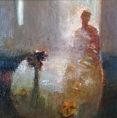 "Dan McCaw, ""Inanimate Thoughts"", Oil on Canvas, 20x20 - Anne Irwin Fine Art"