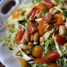 peanut cilantro salad