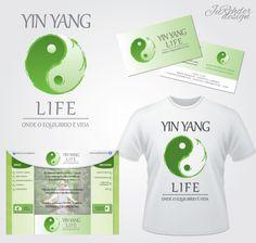 JuRehder - Criação de Logo e material institucional, cartão de visita, camiseta e site para  Yin Yang Life.