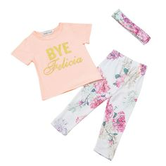 >> Click to Buy << Cotton T shirt Tops+Long Pants Clothes Hairband Newborn Summer Spring Baby Girls Floral Outfit New #Affiliate