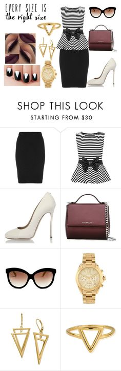 """""""Any size"""" by nora-amjed ❤ liked on Polyvore featuring Manon Baptiste, WearAll, Dsquared2, Givenchy, Italia Independent, Michael Kors, ChloBo and powerlook"""