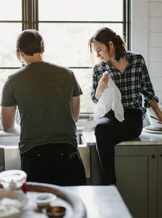 Intimate Kitchen Engagement Session