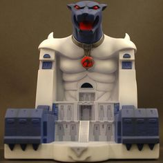 The Thundercats' base on Third Earth was carved out of a natural granite mountain and equipped with electronics from the wreckage of their space ship—so it's only fitting that the 1986 plastic playset would be similarly tricked out. The toy had a pivoting cat head with a working light beam (it could shoot out light, and also recognized light from Mutant vehicles), hidden trapdoors, battle stations, and paws that lifted to reveal an ion beam cannon. There were also a variety of sound effects.