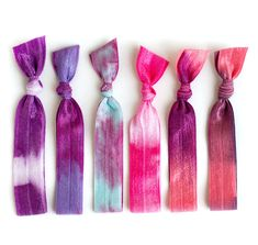 Tie-Dye Hair Ties, I love these! They don't tangle