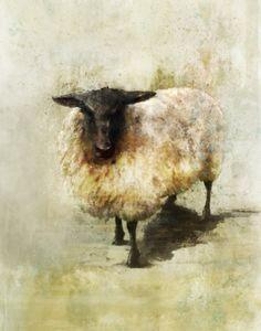 Black Sheep 01 Giclee Fine Art Print by krokoart Sheep Paintings, Wildlife Paintings, Animal Paintings, Watercolor Animals, Watercolor Art, Sheep Art, Sheep And Lamb, Cow Art, Affordable Art