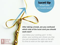 Lucet Tip: How to figure out where you left off Lucet, Crafts To Do, Yarn Crafts, Medieval Pattern, Spool Knitting, Knifty Knitter, String Crafts, Needle Tatting, Finger Knitting
