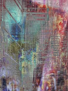 """Saatchi Online Artist: Jean-Francois Dupuis; Assemblage / Collage, Mixed Media """"Magnetic city"""""""