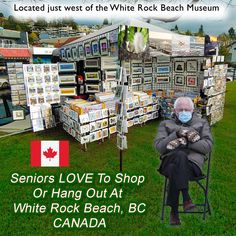 The White Rock Beach Gallery has a NEW LOOK and lots of LOOKERS and Customers
