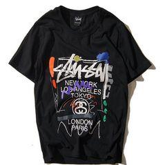 Stussy Grafitti Shirt Stitched comfortable and premium cotton Streetwear shirt…