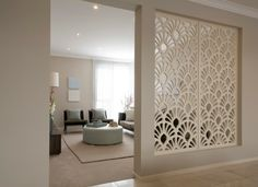 25 Stunning Modern Partition Design Ideas For Living Room, Let's explore a number of the trending and extraordinary modular kitchen design ideas it is possible to test out. Hence, it's highly durable, too. Living Room Partition Design, Room Partition Designs, Partition Walls, Living Room Designs, Living Room Decor, Living Rooms, Contemporary Bedroom, Contemporary Apartment, Modern Room