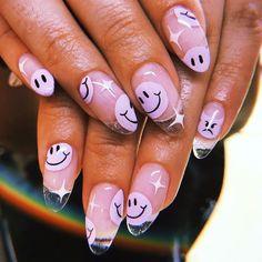 hansen chrome nail makeup pure chrome inc nail makeup harley gardens nail art designs makeup design nail designs nail art nailart nail makeup makeup nailart Halloween Acrylic Nails, Summer Acrylic Nails, Cute Acrylic Nails, Spring Nails, Gel Nails, Edgy Nails, Grunge Nails, Funky Nails, Trendy Nails