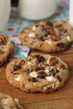 White Chocolate/Dark Chocolate/Pecan Cookies