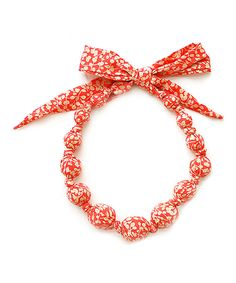 Look at this Sophie Catalou Squash Wooden Bead Necklace on #zulily today!