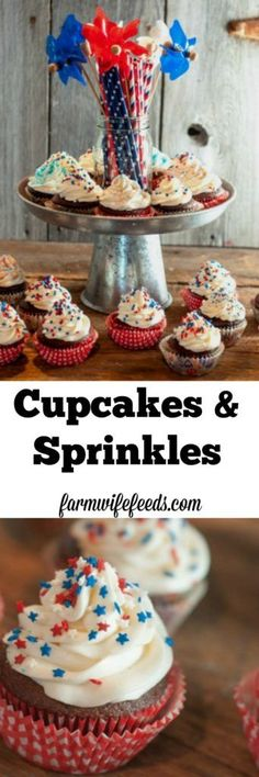 Sprinkles-cute cupcake liners, boxed cake mix, neatly swirled icing ...