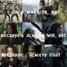 Octavia has been through so much and it's hard to remember that she was once the girl under the floor. The 100 Cast, The 100 Show, Bellarke, The 100 Raven, Lincoln And Octavia, The 100 Quotes, The 100 Characters, 100 Memes, The 100 Clexa