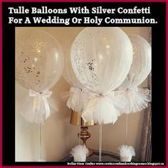 Tulle Balloons For A Party Or Shower