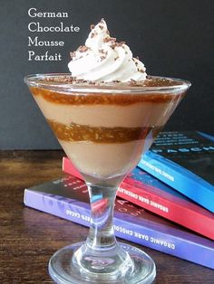 German Chocolate Mousse Parfait  - Decadent layers of light chocolate mousse, sweet coconut caramel, and vanilla whip - perfection! (Dairy-Free, Gluten-Free, Soy-Free, Vegan, Allergy-Friendly)