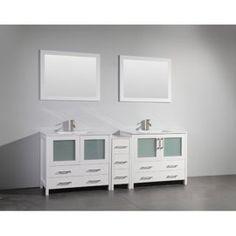 Bathroom Vanities - Walmart.com Double Sink Vanity, Vanity Set With Mirror, Single Sink Bathroom Vanity, Vanity Sink, Bathroom Vanities, Double Sinks, Mirror Bathroom, Downstairs Bathroom, Bathroom Cabinets
