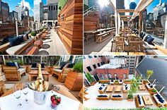 HAVEN Rooftop in the Sanctuary Hotel New York - 10 Prettiest Places to Have Brunch in the U. (and to have a drink in the evening). 132 W St, New York, NY New York Rooftop Bar, Haven Rooftop, Hotel Weekend, Fire Island, Long Island, Sky Bar, Hotel Architecture, Nyc Hotels, York Restaurants