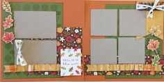 Fall is in the Air Scrapbooking Kit - Autumn Colors, 2 page layout kit by CropALatteToGo on Etsy