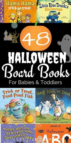 Halloween board book collection for babies and toddlers. Must-read stories for your little pumpkin. Baby books, Toddler books, Halloween babies, Halloween toddler, children's books, children's board books.