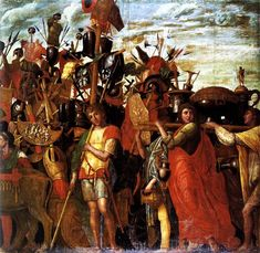 Triumphs of Caeser, 1490-1506 - Andrea Mantegna