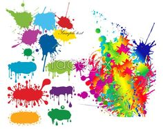 Color ink graffiti vector