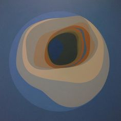 """1965, Helen Lundeberg: """"Blue Planet"""". Acrylic on canvas 60 x 60 in. The Marilynn and Carl Thoma Collection. © Feitelson Arts Foundation, courtesy Louis Stern Fine Arts"""