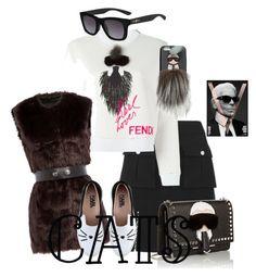 """""""Karl Lagerfeld"""" by ramonaaleksandrova ❤ liked on Polyvore featuring Fendi and Karl Lagerfeld"""
