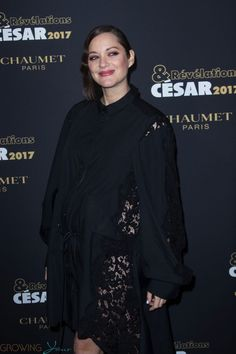 Almost there! Mom-to-be Marion Cotillard was all smiles for the cameras on Monday night while attending the Revelations Cesars 2017 dinner at the Salon Chaumet in Paris, France.