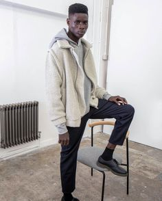 Recycled Wool and up-cycled plastic bottles were used to create our 2 in 1 Modular Teddy Coat. The limited-edition run is made in England and features zip off sleeves. Striped Scarves, Striped Socks, Teddy Coat, Recycle Plastic Bottles, Save The Planet, Slow Fashion, Cashmere Sweaters, Sustainable Fashion, Lounge Wear