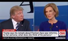 """Carly Fiorina Faces Donald Trump 