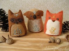 some new woodland critters by merwing✿little dear, via Flickr