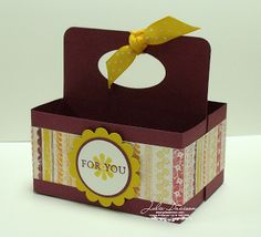Julie's Stamping Spot -- Stampin' Up! Project Ideas Posted Daily: Double Box #2 Tote