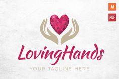 Diamond Heart Hands Logo by Lucion Creative on Creative Market Selling On Instagram, Diamond Heart, Diamond Logo, Hand Logo, Heart Hands, Modern Logo, Creative Logo, Logo Templates, Graphic Design