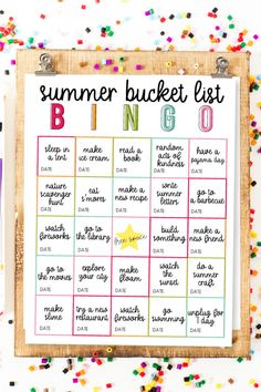 Summer Bucket List BINGO – use this as a guide for a fun summer with your kids! Summer activities and ideas.thirtyhandmad… Summer Bucket List BINGO – use this as a guide for a fun summer with your kids! Summer activities and ideas. Summer Fun For Kids, Summer Fun List, Summer Bucket, Summer Art, Kids Summer Schedule, Fun Bucket, Mind Maps, Mandala Tattoo Schulter, Summer Holiday Activities