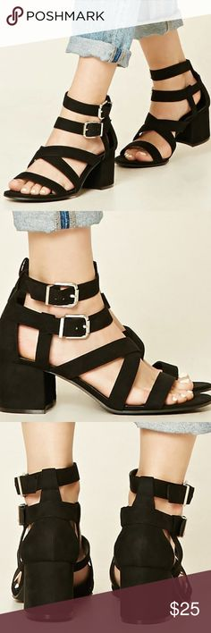 Forever 21 Suede Strappy Sandals Size 9. New. Never worn Forever 21 Shoes Sandals