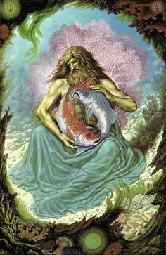 Johfra: Images of the Zodiac, Virgin to Pisces - Constellar Astrology Zodiac Art, Astrology Zodiac, Zodiac Signs, Pisces Horoscope, Art Zodiaque, Tarot, Art Visionnaire, Esoteric Art, Mystique